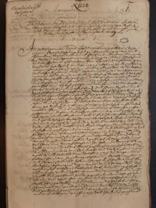 Me Stoeber (6 E 41, 1183) acte 1217, intitulé