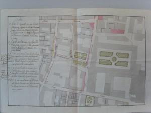 Cour brûlée avant l'achat par la ville (Arch. mun., AA 2160)