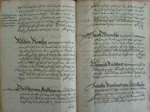 Registre des Communaux de 1587 (cote VII 1450, folio 79)