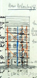 Haute Montée 7, façade en 1914