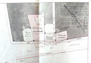Plan Quai des Pêcheurs (ancien état) (1843)