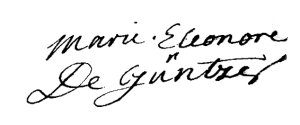 Güntzer (Marie Eléonore de), 1735 (Lettre, ADBR, E 917)