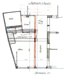 Poules 14, Plan 1908