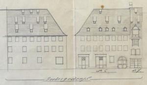 Gerbergrabenplatz 6, Zeichnung (907 W 161)
