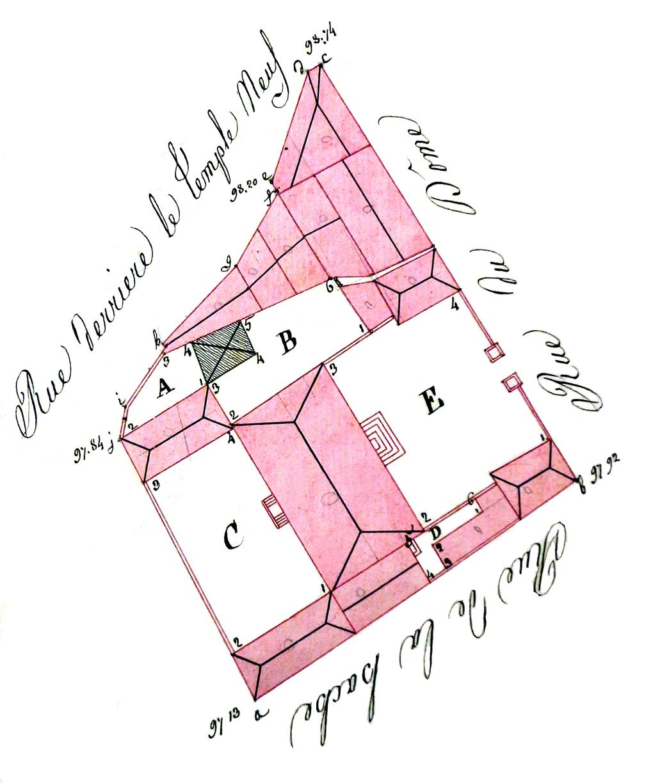 Maisons de strasbourg n 8 v 126 blondel n 1210 for Plan 65