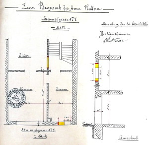 Plan du 1° (1898), 8 rue du Foulon