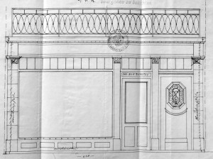 Fossé des Tanneurs 28, devanture 1912