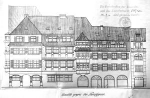 Elévations rue Hannong, 1910 (815 W 187)