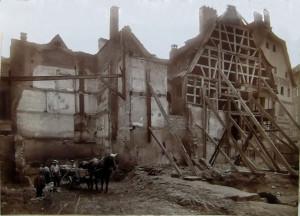 Fossé des Tanneurs 8 (place), pignon et 1914 (720 W 106)