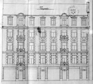 Parchemin 4, élévations 1902
