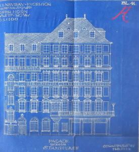 Hôtel Hannong, façade rue Hannong 1914 (720 W 101)
