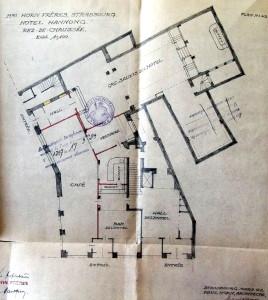 Hôtel Hannong, plan 1923 (720 W 101)