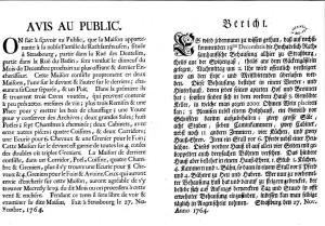 Affiche 1764