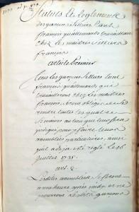 XV 1737, garçons selliers (2 R 146)