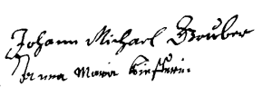 Gruber (Michel, SPV f° 138-v)