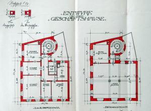 Plan entresol, étages (1912)