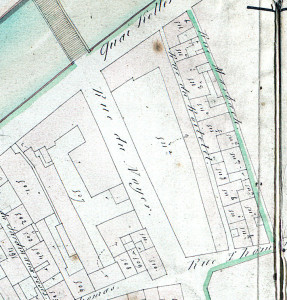 Plan 1836, cadastre section P (rue du Noyer, 1197 W 35, 12)