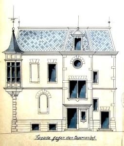 Ritleng façade vers la caserne