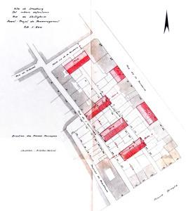 Ilot Broglie, projet d'aménagement (novembre 1957)