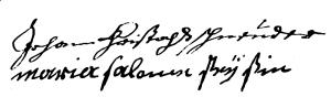 Schneider (Jean Christophe, 1736, SPV f° 160-v)