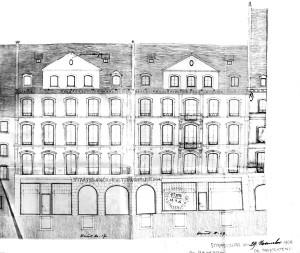 Nuée Bleue 17-19, façade (1906)