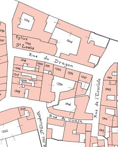 1836, Cadastre (P) rue du Dragon