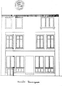 Sanglier 8, 1897, façade rue du Sanglier