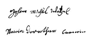Wetzel-Bronner (1716, TN f° 284)