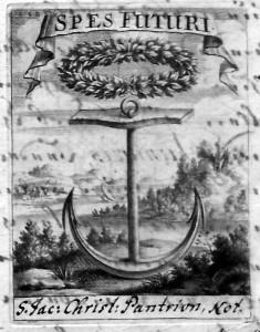 Pantrion, vignette (Inv. Dorothée Kohlloeffel, 1711)