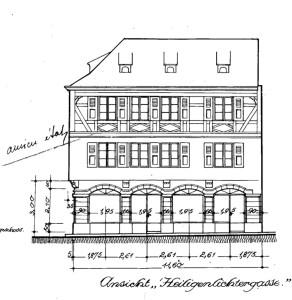 Pelletiers 2, 1922 façade rue des Chandelles