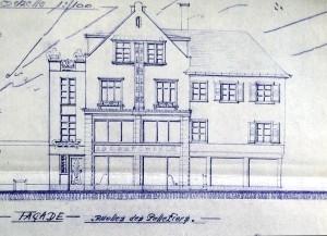 Pelletiers 2, 1946, projet