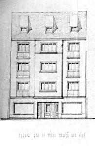 Vieux-Marché-aux-Vins 9 (1952, élévation, rue)