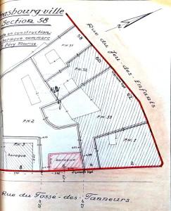 Fossé des Tanneurs 6 (1946, plan de situation)