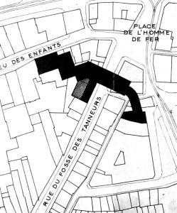 Fossé des Tanneurs 6 (1953, plan de situation)