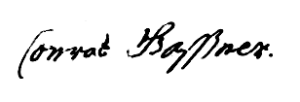 Gassner (Conrad, 1711, SPJ p. 94)