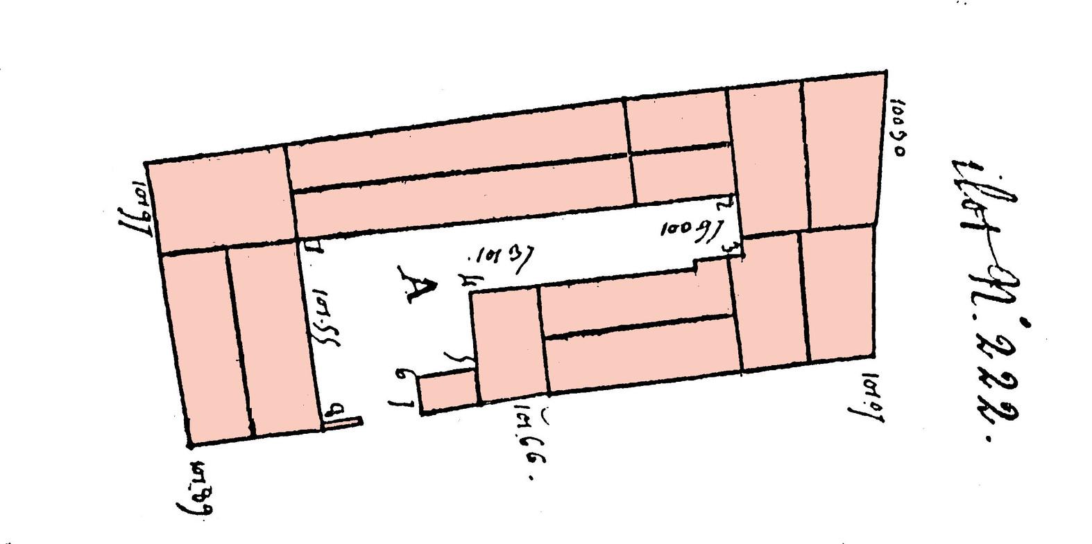 Elevations Preparatoires Au Plan Relief De 1830 Ilot 222 Cour A Correspondant Et Blondel 1765 AMS Cote 1 PL 675